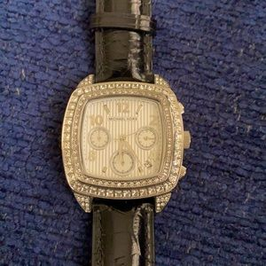 Michael Kors 5103 Leather Crystal Watch